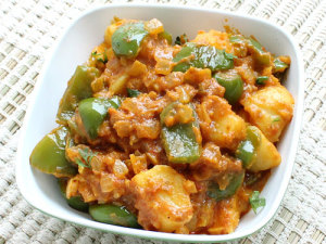 Capsicum Potato Curry