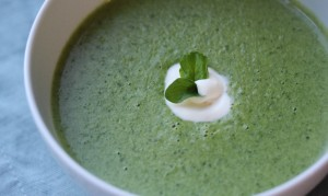 Almonds and Watercress Soup